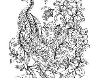 Coloring Pages for adults Digital of a Koi fish for