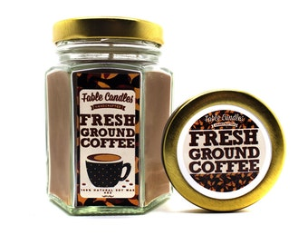 Fresh Ground Coffee Scented Soy Candle | Handmade Scented Candle