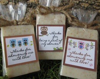 Owl Baby Shower Favor Soap Owl Baby Shower Favor Soap Favors Oatmeal Honey  Organic Soap Baby