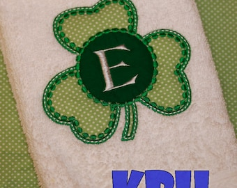 St. Patrick's Day Shamrock Hand Towel
