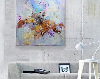 Large wall art canvas Original abstract acrylic painting Modern Art Abstract Painting Acrylic painting on Canvas Original art work Fine Art