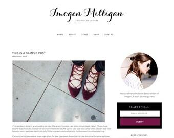 """Responsive Blogger Template """"Imogen"""" - Feminine Blogger Theme"""