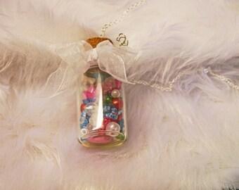Rainbow Bottle necklace