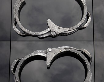 Vertebra- metal BDSM shackle / Restraint bondage equipment / Dungeon kinky stuff / Industrial goth / Slave neck collar /