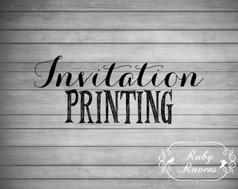 Invitation Printing, Custom Invitation Printing, Print Shop Service, Single Side Invitation