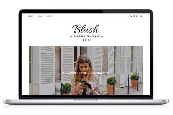 Premade Blogger Template- Blush Responsive Blog Theme
