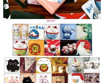 Fortune Cat Stickers Pack SM212627 46pcs