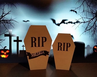 Halloween Coffin Treat Boxes - Coffin Boxes - Halloween Treat Boxes - Halloween Favors - RIP Treat Boxes - RIP Favor Boxes - Coffin Favors