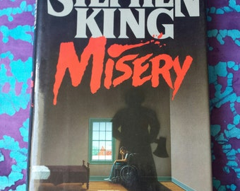 80's ~ Vintage Stephen King ~ Misery ~ Fiction ~ Horror ~ Macabre ~ 1987 ~ Like NEW ~ Hardback Novel ~ Book ~ Scary Story ~ Dust Jacket