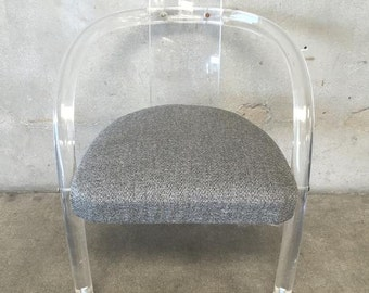Vintage Charles Hollis Jones Lucite Chair (12FQ17)
