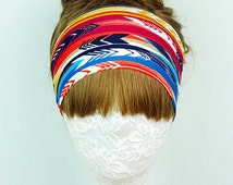 Arrow Tribal yoga headband, exercise headband, lycra headband, fitness headband, Women's headband, running headband, workout headband