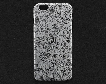 Happy Flower iPhone 8 Case Birds iPhone X Case iPhone 7 Plus iPhone 6 Case iPhone 7 iPhone SE Case iPhone 5 Floral Galaxy Case Phone Cover