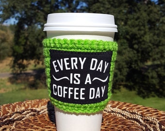 cup cozy, coffee gift, stocking stuffer, funny gift, coffee sleeve
