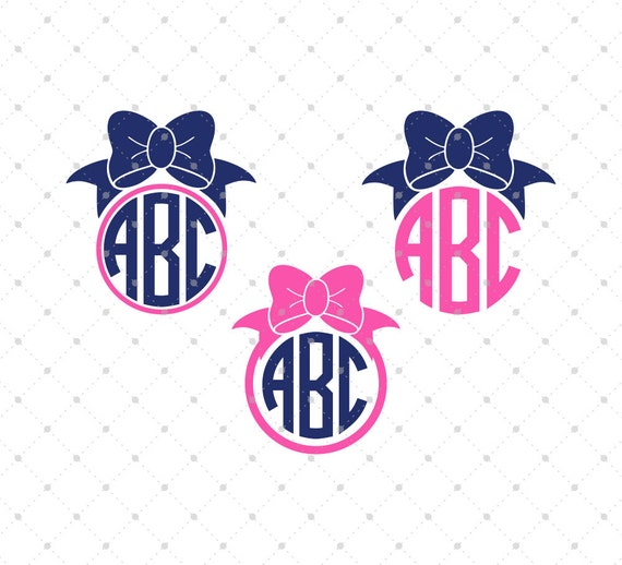 bow monogram svg cut files bow svg svg files for cricut