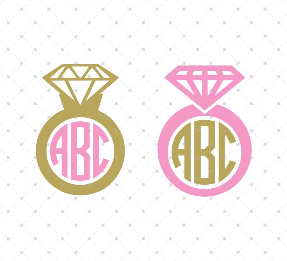 Diamond Ring SVG Cut Files Wedding Ring SVG Cut Files