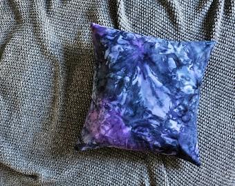 Purple & Navy Watercolour Batik Envelope Cushion Cover