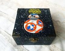 Star Wars The Force Awakens jewelry box, Star Wars bb8  ,Darth Vader Yoda box , Star wars gift storage box