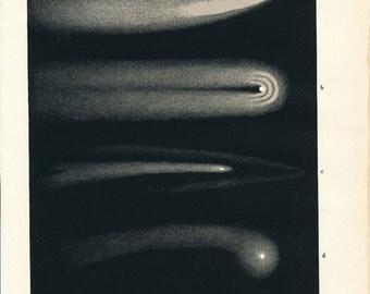 1900 Comets Antique Astronomy Print