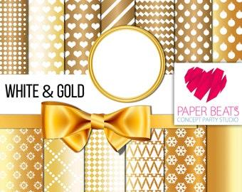 WHITE & GOLD digital pattern