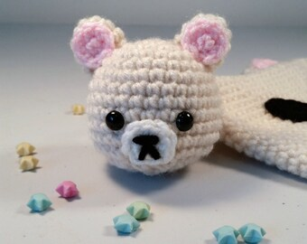 Korilakkuma Amigurumi, Korilakkuma Keychain, Crochet Korilakkuma Plushie, Bear Keychain, Bear Amigurumi, Bear Plushie, Kawaii Keychain