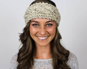 Cable Knit Headband // the ASPEN | oatmeal