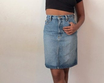 Esprit 90's Denim Skirt XSmall