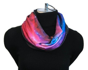 Galaxy Scarf -  Infinity Scarf - Galaxy Infinity Scarf - Lightweight Spring Scarf - Outer Space Scarf -  Women Infinity Scarf - Nebula Scarf