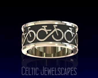 BIKE FOREVER Ring in Sterling Silver