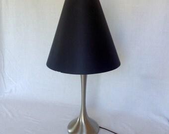 Laurel Brushed Steel Teardrop Lamp