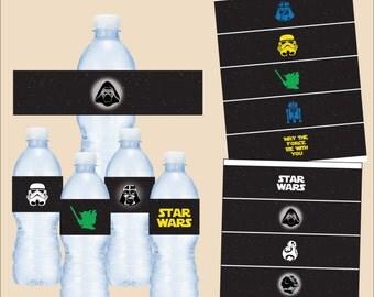 Star Wars water bottle label - instant download