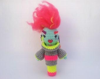 RuPaul's Drag Race -  Acid Betty - Neon Queen Amigurumi.