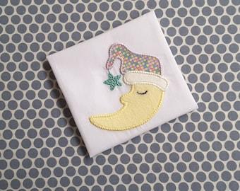 Applique Machine Embroidery Design Baby Moon