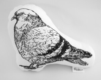 Pigeon handcrafted cotton plushie
