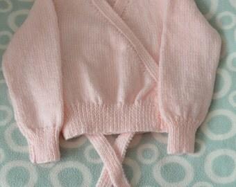 Girls Ballet Cardigan, Girls cardigan, girls sweater, toddler girls sweater, toddler cardigan, Ballet Sweater, made to order, sizes 2-6 yrs