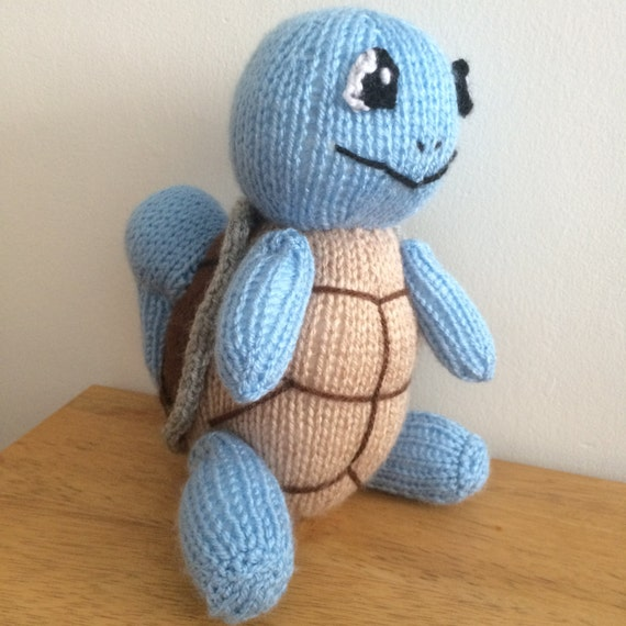 Squirtle toy knitting pattern pokemon plushie animal knit pattern knitted turtle