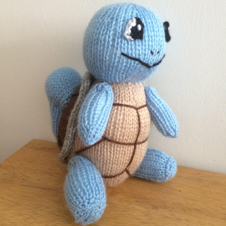 Pokemon Knitting Patterns : Squirtle toy knitting pattern pokemon plushie animal knit