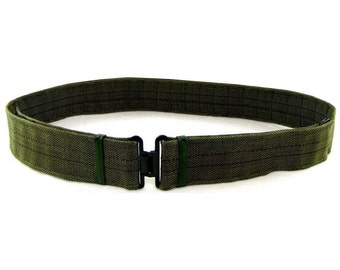 "1980s Genuine German Army Belt In Green 110cm Long 44"" DDR NVA New/Never Issued Heavy Duty"