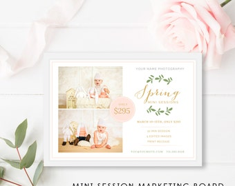 Spring Mini Session Marketing Board, Spring Mini Session Template, Spring Marketing Board, Modern Marketing Templates - INSTANT DOWNLOAD