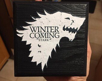 Wood keepsake box, Game of Thrones, House Stark, keepsake box, Jewelry box