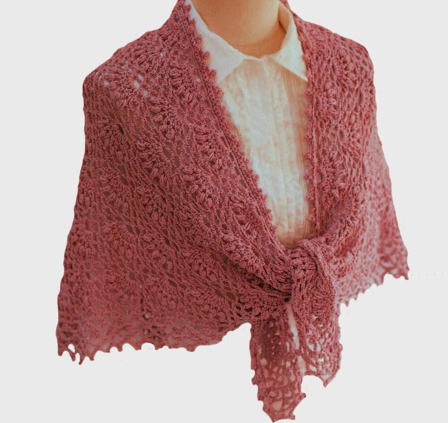 Crochet Pattern For Small Shawl : Beautiful crochet shoulder wrap PATTERN crochet shawl
