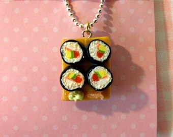 California roll sushi necklace
