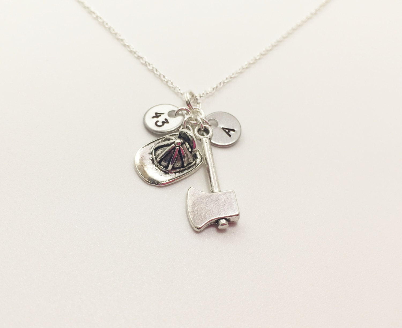 firefighter necklace gift for firefighter firefighter