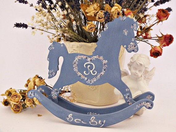 Personalized Baby Gift Baskets Rocking Horse : Personalized rocking horse toy baby shower gift