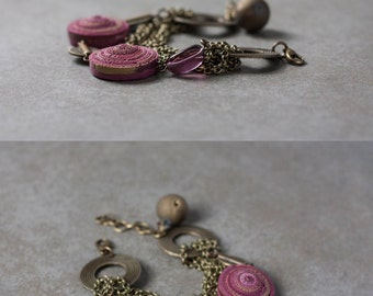 Tribal bracelet - Gypsy Boho Bracelet - Multichain Bracelet - Brass Bracelet