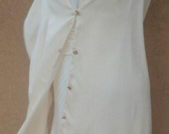 Wedding Shawl, Wedding Wrap, Bridal Shawl, Bridesmaid Cover Up, Bridal Wraps, Ivory Silk Scarf, Long Wedding Wrap. Bridal Cape