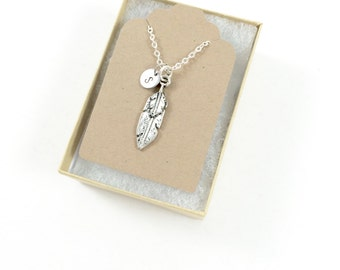 Feather Necklace, Silver Feather Necklace, Memorial Necklace, Bereavement Jewelry, Meaningful Jewelry, Sympathy Gift Loss of Loved One Grief