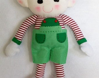 Handmade  Christmas Elf decoration. Felt Elf Christmas decoration.