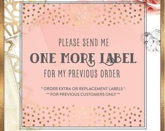 Need a Replacement or Extra Labels to Order that Already Shipped - Label For PREVIOUS Customers ONLY