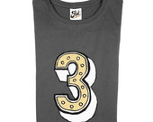 Number Three T-Shirt- Child's 3rd Birthday Shirt- Magic No.3 Kids Tee- third birthday for top boys and girls