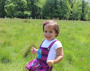 Rainbow Dungarees 12 months +